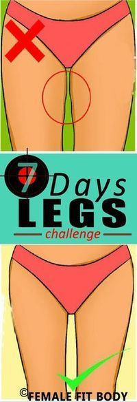 Challenge – Get strong, Lean Legs with These 13 Exercises. Go through all 7 days and you too will have amazing looking legs. Trust me these moves do work. Training Fitness, Sport Fitness, Fitness Models, Health Fitness, Fitness Shirts, 7 Day Challenge, Lean Legs, Lean Thighs, Thigh Exercises