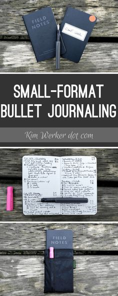 Small-format bullet journaling with PocketDojo and Field Notes – http://kimwerker.com/blog