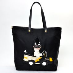 PRADA PRADA tote bag robot collection black nylon ☆ constant seller popularity shoulder bag B4428M -15,322