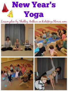 New Year's Yoga sequence (fun way to introduce children to setting New Year's resolutions through movement) | Kids Yoga Stories