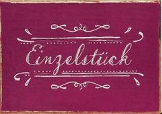 Grafik Werkstatt Vintage Art Postkarte Einzelstück | Für Dich und Mich