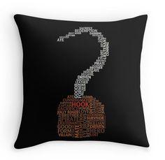 Captain Hook Typography Throw Pillow ($20)