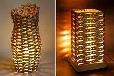 Como hacer una lámpara con ganchos de ropa