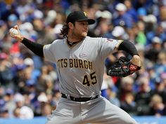 Gerrit Cole Photos - Starting pitcher Gerrit Cole of the Pittsburgh Pirates delivers the ball against the Chicago Cubs at Wrigley Field on May 2016 in Chicago, Illinois. - Pittsburgh Pirates v Chicago Cubs Wrigley Field Chicago, Chicago Cubs, Chicago Illinois, Astros Game, Minute Maid Park, Washington Nationals, Pittsburgh Pirates, Houston Astros, Baseball Cards