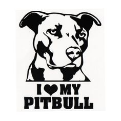 I love my Pitbull Art bULL dog wallpaper Cute Wall Sticker For Home Rooms Animals Series Decor Vinyl Wall Decals Mural Wall Stickers Dogs, Car Stickers, Car Decals, Vinyl Decals, Vinyl Art, Vehicle Decals, Stencil Art, Stencils, Doodle Drawing