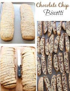 Chocolate Chip Biscotti #FBCookieSwap