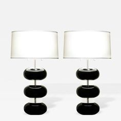 Pair of Table Lamps By Karl Springer 1970s by Karl  Springer