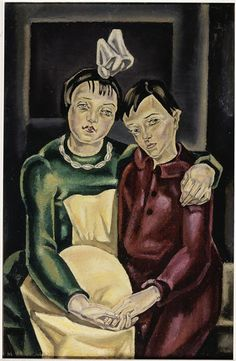 Les deux orphelines. María Blanchard, vers 1923.