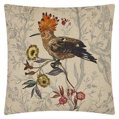 Buy Timorous Beasties for John Lewis Hoopoe Bird Cushion, Multi Online at johnlewis.com