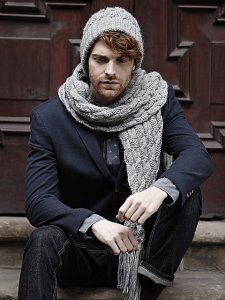 Ravelry: Twisted Cable Hat and Scarf pattern by Martin Storey Mens Scarf Knitting Pattern, Crochet Mens Scarf, Knitting Designs, Man Scarf Knit, Men Scarf, Chunky Knit Scarves, Cable Knit Hat, How To Wear Scarves, Men's Scarves