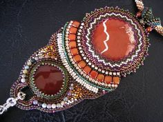Sunset of Egypt  Bead Embroidery  necklace