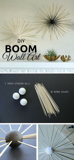 check out the tutorial diy boom wall art istandarddesign