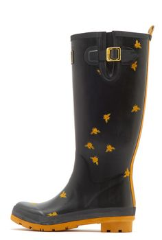 288cf104fb6 Joules Welly Print Black Bees Women s Wellies