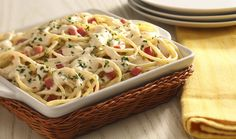 Spaghetti en salsa de perejil y tocino #CuidarseEsDisfrutar