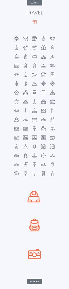 Simple Travel icon set.