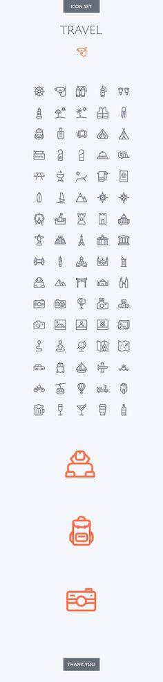 Simple Travel icon set.