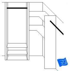 design a closet corner shelves
