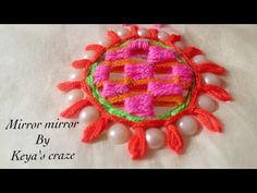 It's a very easy and gorgeous mirror/Shesha work. Aari Embroidery, Basic Embroidery Stitches, Hand Embroidery Videos, Embroidery Works, Creative Embroidery, Indian Embroidery, Brazilian Embroidery, Hand Embroidery Designs, Embroidery Patterns