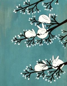 You know that spring is here when the bunny trees bloom...