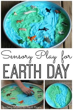 Sensory Play Activity for Earth Day – Pre-K Pages Sensory Play for Earth Day. Your Preschool Kids will Enjoy Learning about Earth Day, plus animals and their habitats with this fun sensory activity! – Pre-K Pages Earth Day Activities, Science Activities For Kids, Preschool Science, Spring Activities, Preschool Crafts, Toddler Activities, Play Activity, Science Toddlers, Science Art