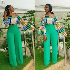 50+ Premium Pants, African Print Wide Leg Pants