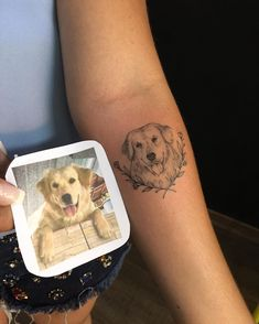 Tattoo by Pedro Paiva from Belo Horizonte. Photo and dog tattoo … - Tattoo Design Bff Tattoos, 4 Tattoo, Ankle Tattoo, Forearm Tattoos, Piercing Tattoo, Future Tattoos, Love Tattoos, Body Art Tattoos, Tribal Tattoos