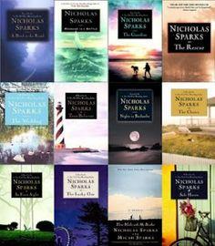 Nicholas Sparks books <3 Read every one!