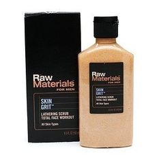 Raw Materials Skin Grit Scrub, 6.5 Ounce by Raw Materials. $16.00. A favorite cleansing scrub with men and women. Loaded with jojoba beads that exfoliate and instantly unclog pores and softens skin. Natural lather does not irritate or dry skin. Cruelty free and made in the USA. 98% natural. 98% natural face and body scrub. A multi-purpose, lathering scrub that is gentle enough for the face, yet power packed to handle rough elbows, hands and body. Helps to clear breakouts ...