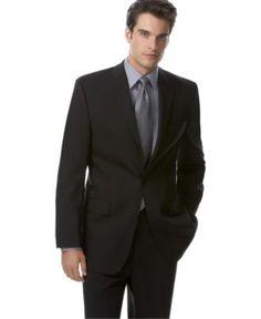 Calvin Klein Jacket, Black Solid - Mens Suits & Suit Separates - Macy's