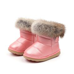 NEW Grey//Nadia Snow Boots Rain Fur Topped Cat /& Jack Youth Boots Size 6
