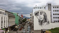 After a few days of work, Guido Van Helten just wrapped up this new piece for the Akureyrarvaka culture festival 2014 on the streets of Akur...