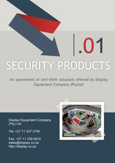 An assortment of #anti-theft and #security #solutions offered by #Display #Equipment Company (Pty)ltd