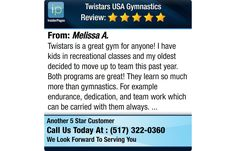 Twistars is a great gym for anyone! I have kids in recreational classes and my oldest...