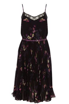 Here's the perfect dancing dress. It has adjustable spaghetti straps, a cute lace detail panel on the bodice, and a pleated light skirt which you may swish to your heart's content. Call the hunt off: you've found The Dress.