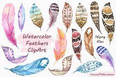 Aquarelle plumes Clipart clipart plume plumes anciennes