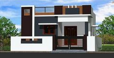 Tara Estates Pvt Ltd - Independent House House Front Wall Design, Single Floor House Design, House Outside Design, Modern Small House Design, Village House Design, Kerala House Design, Bungalow Haus Design, Duplex House Design, Independent House