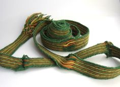 Tablet woven band inspired by the found of the Vaala-Moor Tablet woven by Porta patet, cor magis