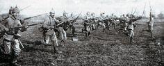German infantry attack Marne Battle