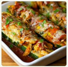Cheesy Enchilada Zucchini Boats