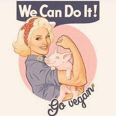 we can do it; go #vegan