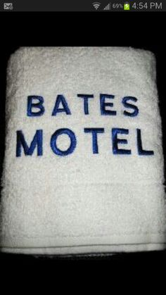 bates motel towelsi think ill use my embroidery machine and make some halloween bathroom - Halloween Bath Towels