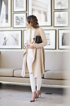 white beige outfit