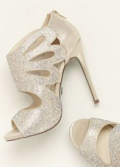 Make a bold fashion statement on your day in these Blue by Betsey Johnson heels! Style SBNOLA at David's Bridal.