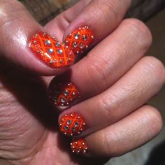Belly dancing nails - Love the sparkle