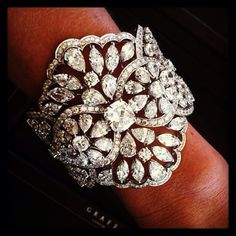 An exquisite GRAFF diamond Cuff shimmering at the 2013 Screen Actors Guild Awards