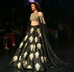 Prachi Desai walks in SVA Couture at Lakmé Fashion Week