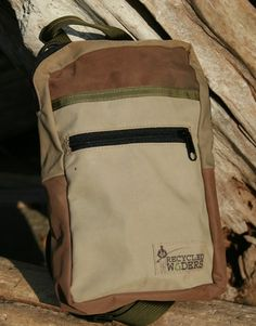 "A ""Nook Sack"" made out of recycled waders.  We think it is the perfect man-purse. One main pocket to hold your large fly boxes; a smaller internal pocket, and an external zippered pocket."