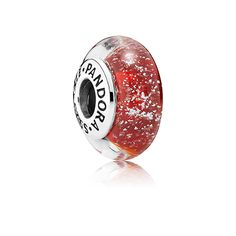 PANDORA | Disney Snow White silver charm with red fluorescent Murano glass