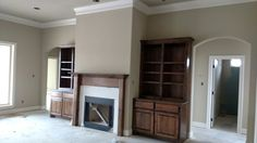 Sherwin williams universal khaki white cabinets walker for Khaki green walls
