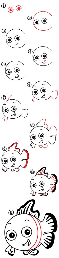 Learn how to draw Nemo from Finding Nemo. You'll need something to draw with and some paper, then follow along with us!